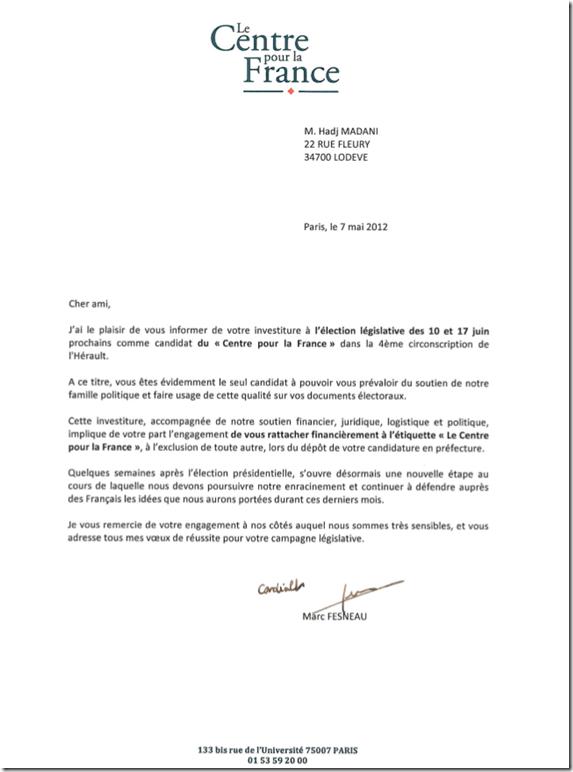 lettre_fesneau_rattachement